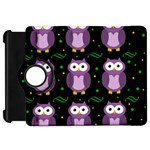 Halloween purple owls pattern Kindle Fire HD Flip 360 Case Front