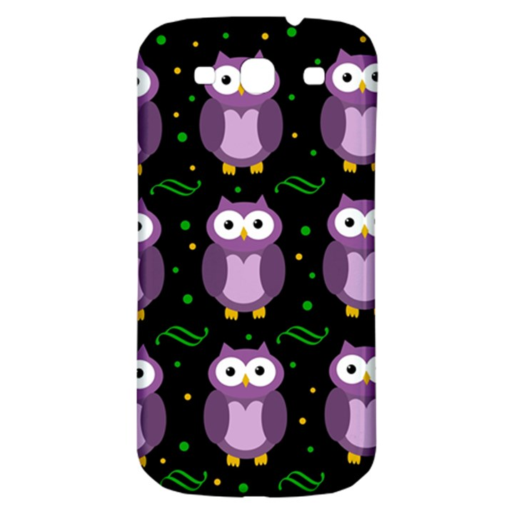 Halloween purple owls pattern Samsung Galaxy S3 S III Classic Hardshell Back Case