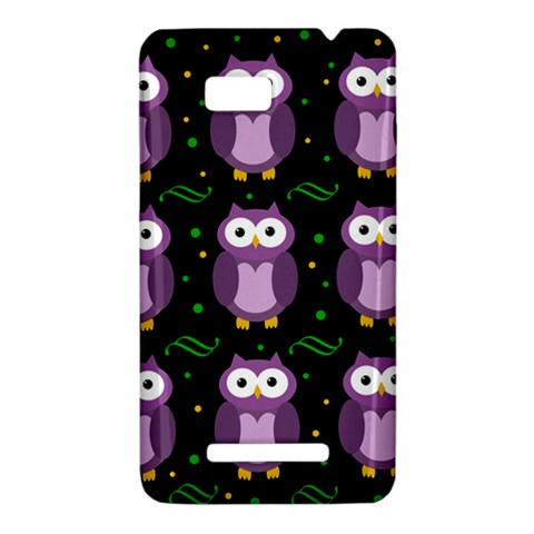 Halloween purple owls pattern HTC One SU T528W Hardshell Case
