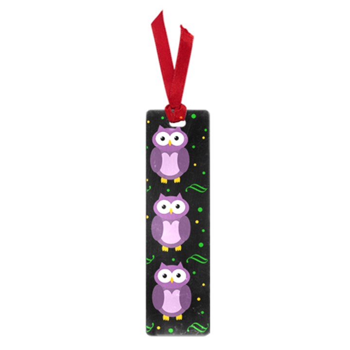 Halloween purple owls pattern Small Book Marks