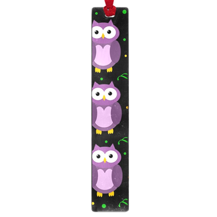 Halloween purple owls pattern Large Book Marks