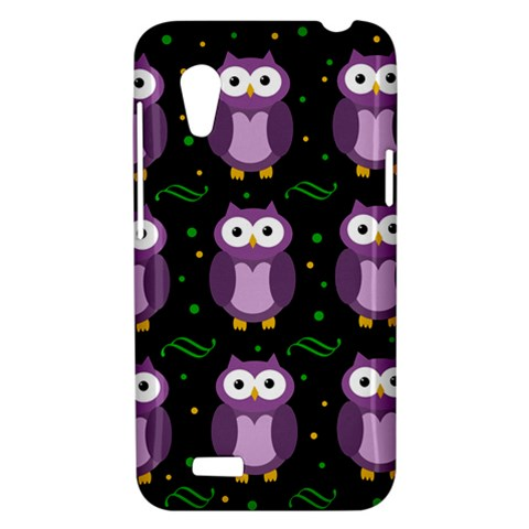 Halloween purple owls pattern HTC Desire VT (T328T) Hardshell Case