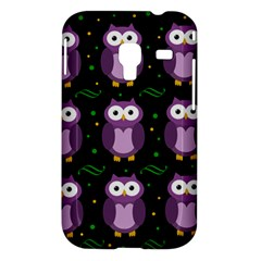Halloween purple owls pattern Samsung Galaxy Ace Plus S7500 Hardshell Case