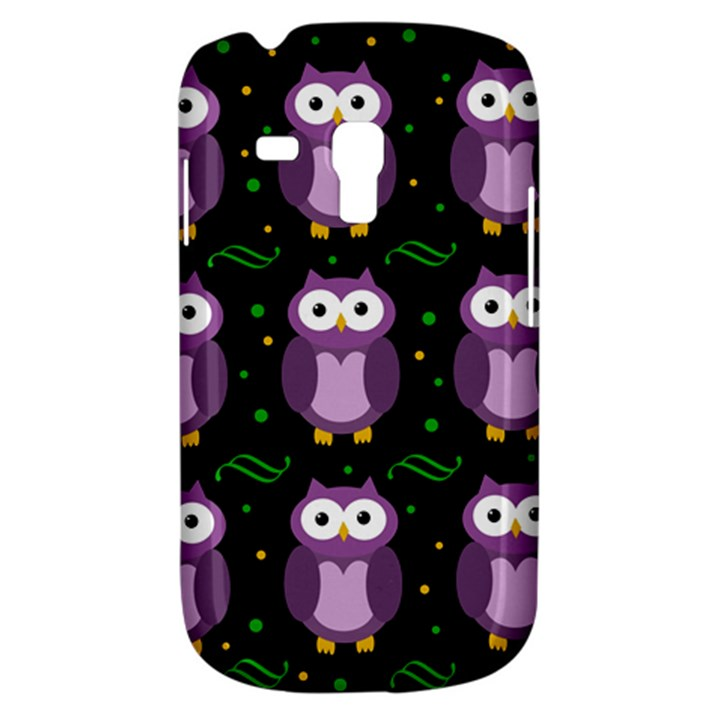 Halloween purple owls pattern Samsung Galaxy S3 MINI I8190 Hardshell Case