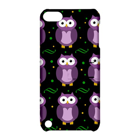 Halloween purple owls pattern Apple iPod Touch 5 Hardshell Case with Stand