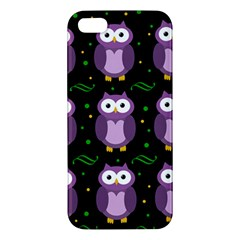 Halloween Purple Owls Pattern Apple Iphone 5 Premium Hardshell Case