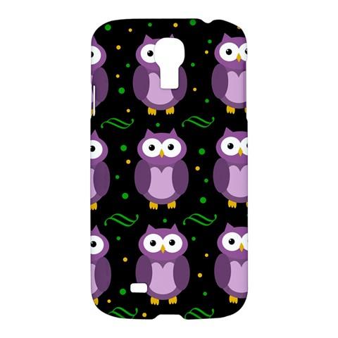 Halloween purple owls pattern Samsung Galaxy S4 I9500/I9505 Hardshell Case