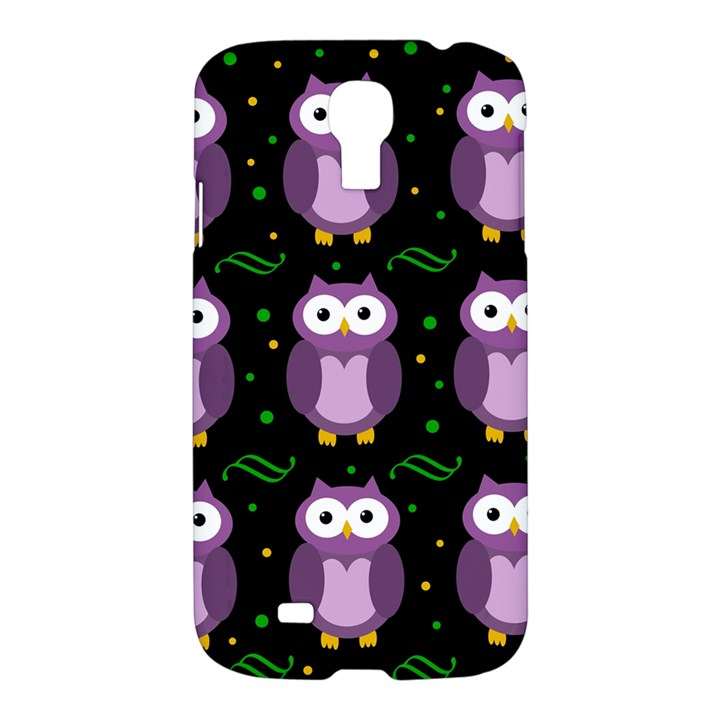 Halloween purple owls pattern Samsung Galaxy S4 I9500/I9505 Hardshell Case