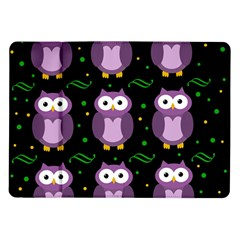 Halloween purple owls pattern Samsung Galaxy Tab 10.1  P7500 Flip Case