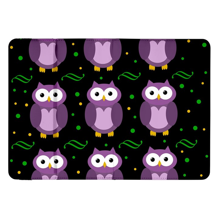 Halloween purple owls pattern Samsung Galaxy Tab 8.9  P7300 Flip Case