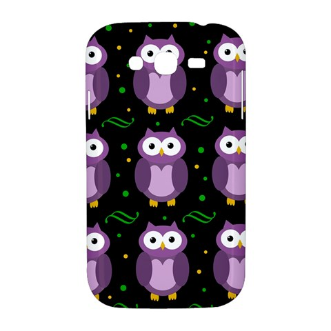 Halloween purple owls pattern Samsung Galaxy Grand DUOS I9082 Hardshell Case