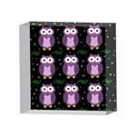 Halloween purple owls pattern 4 x 4  Acrylic Photo Blocks Front