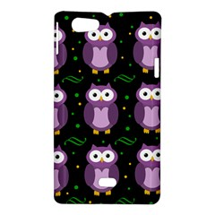 Halloween purple owls pattern Sony Xperia Miro