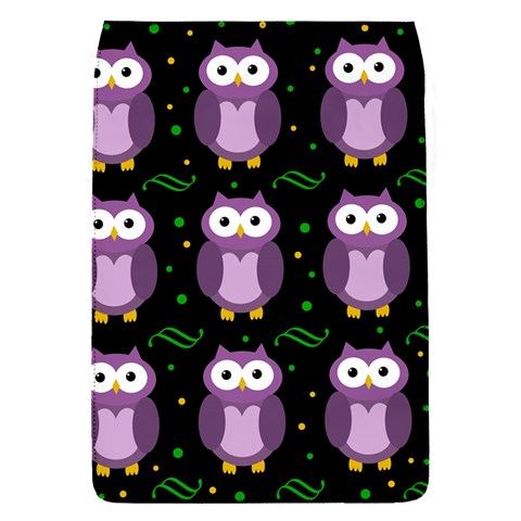 Halloween purple owls pattern Flap Covers (S)