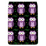 Halloween purple owls pattern Flap Covers (S)  Front