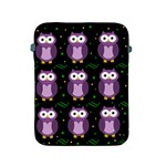 Halloween purple owls pattern Apple iPad 2/3/4 Protective Soft Cases Front