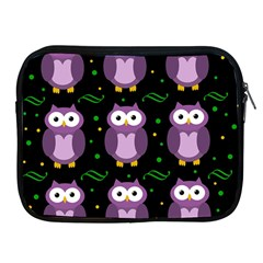Halloween purple owls pattern Apple iPad 2/3/4 Zipper Cases