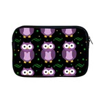 Halloween purple owls pattern Apple iPad Mini Zipper Cases Front