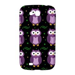 Halloween purple owls pattern Samsung Galaxy Grand GT-I9128 Hardshell Case