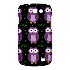 Halloween purple owls pattern Samsung Galaxy Express I8730 Hardshell Case
