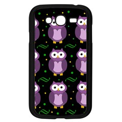 Halloween purple owls pattern Samsung Galaxy Grand DUOS I9082 Case (Black)
