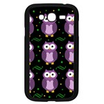 Halloween purple owls pattern Samsung Galaxy Grand DUOS I9082 Case (Black) Front