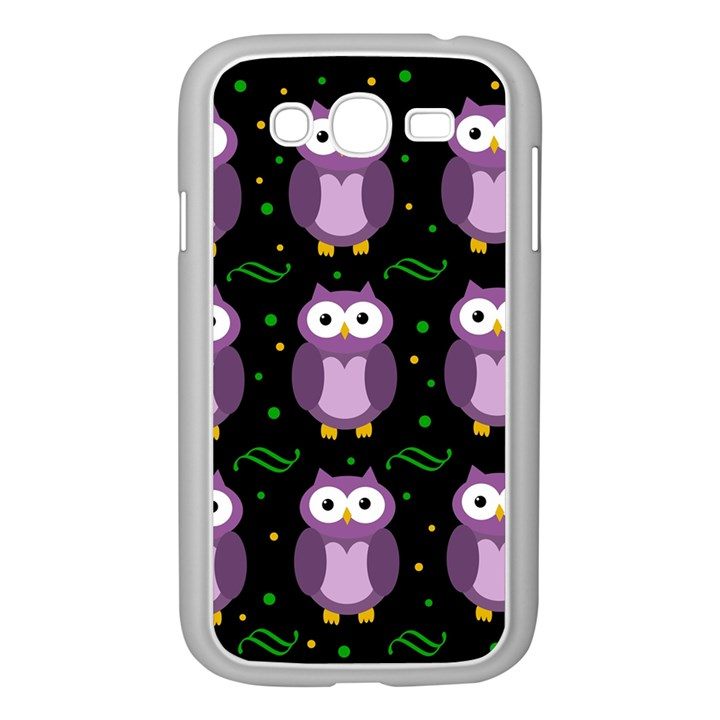 Halloween purple owls pattern Samsung Galaxy Grand DUOS I9082 Case (White)
