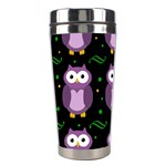 Halloween purple owls pattern Stainless Steel Travel Tumblers Center