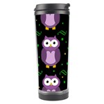 Halloween purple owls pattern Travel Tumbler Right