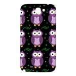 Halloween purple owls pattern Samsung Note 2 N7100 Hardshell Back Case Front