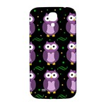 Halloween purple owls pattern Samsung Galaxy S4 I9500/I9505  Hardshell Back Case Front