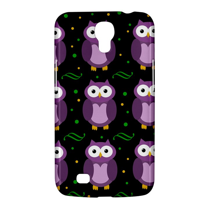 Halloween purple owls pattern Samsung Galaxy Mega 6.3  I9200 Hardshell Case