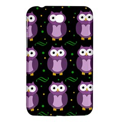 Halloween purple owls pattern Samsung Galaxy Tab 3 (7 ) P3200 Hardshell Case