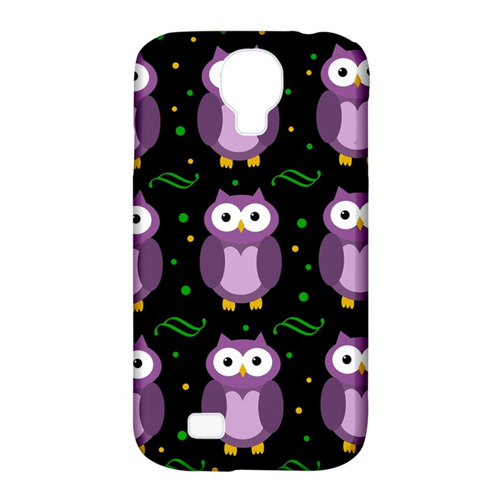 Halloween purple owls pattern Samsung Galaxy S4 Classic Hardshell Case (PC+Silicone)