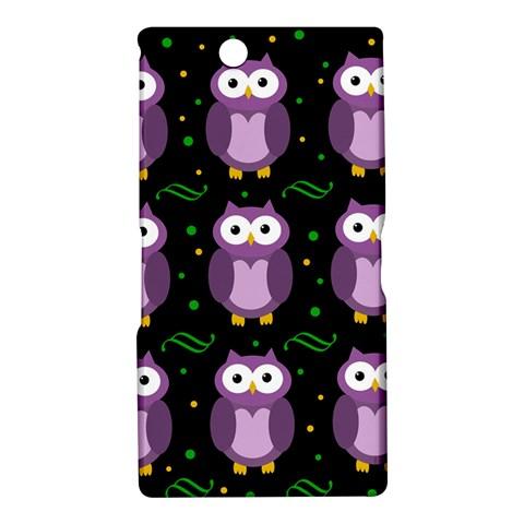 Halloween purple owls pattern Sony Xperia Z Ultra
