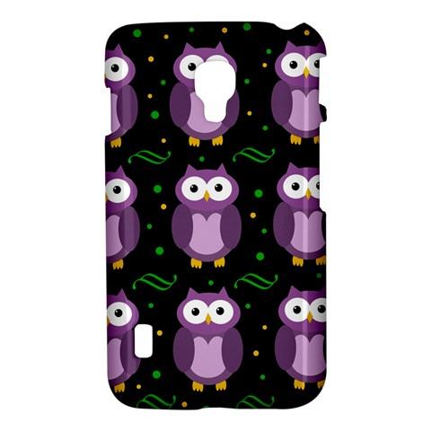 Halloween purple owls pattern LG Optimus L7 II