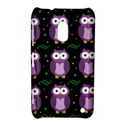 Halloween purple owls pattern Nokia Lumia 620