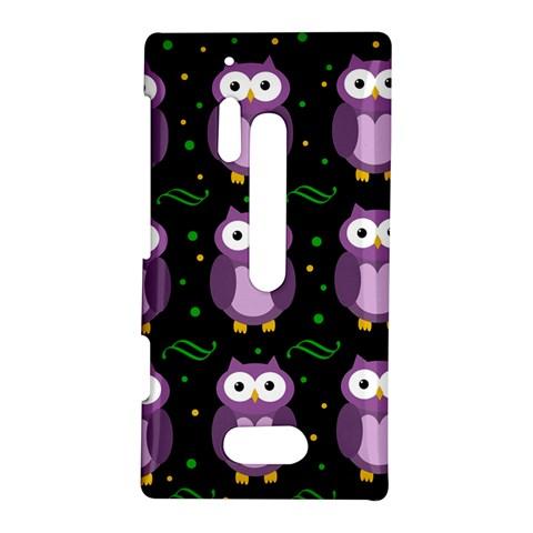 Halloween purple owls pattern Nokia Lumia 928