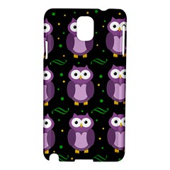 Halloween Purple Owls Pattern Samsung Galaxy Note 3 N9005 Hardshell Case
