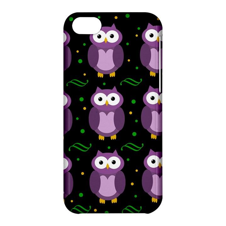 Halloween purple owls pattern Apple iPhone 5C Hardshell Case