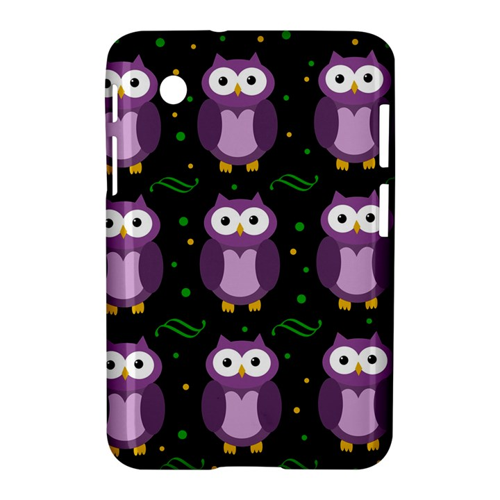 Halloween purple owls pattern Samsung Galaxy Tab 2 (7 ) P3100 Hardshell Case