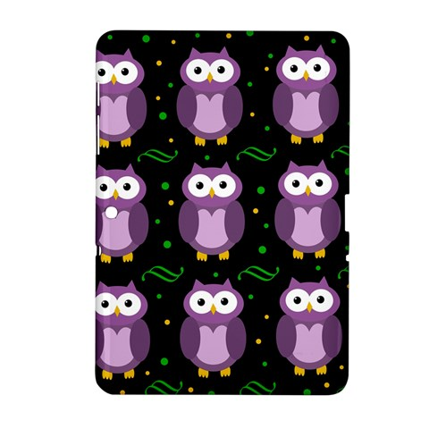 Halloween purple owls pattern Samsung Galaxy Tab 2 (10.1 ) P5100 Hardshell Case