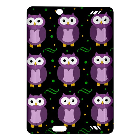 Halloween purple owls pattern Amazon Kindle Fire HD (2013) Hardshell Case