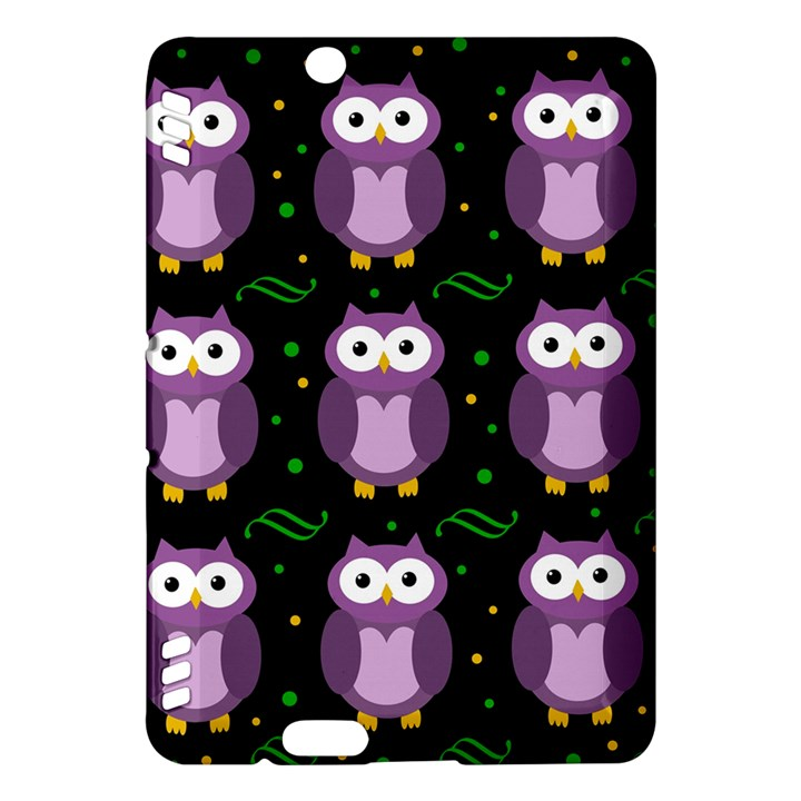 Halloween purple owls pattern Kindle Fire HDX Hardshell Case