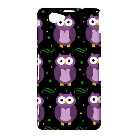 Halloween purple owls pattern Sony Xperia Z1 Compact
