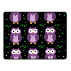 Halloween purple owls pattern Double Sided Fleece Blanket (Small)