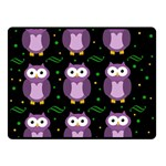 Halloween purple owls pattern Double Sided Fleece Blanket (Small)  50 x40 Blanket Back