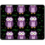 Halloween purple owls pattern Double Sided Fleece Blanket (Medium)  60 x50 Blanket Back