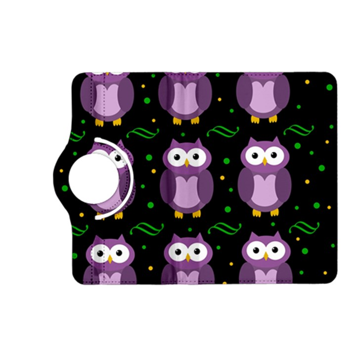 Halloween purple owls pattern Kindle Fire HD (2013) Flip 360 Case