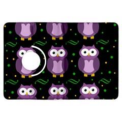 Halloween purple owls pattern Kindle Fire HDX Flip 360 Case